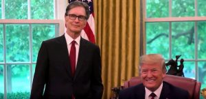 World Champion Boston Red Sox John Henry together with US President Donald Trump