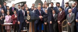 Henry and the Red Sox Team with President Trump