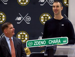 ICE RINKS – Bruins Chara Celebrated for Dedication to the Community